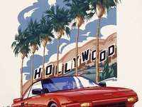 Toyota MR-2 - This Is A Photo Of A Person Driving Sports Car Through Hollywood Hills California