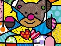 Romero Britto's work - Puzzles for boys and girls interested in art