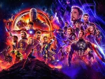 Avengers End Games av Avengers Infinity War - Rädda världen genom att avsluta pusslet