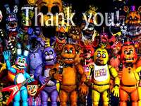 it's thank you for playing this game;) - five long nights enjoy your five long nights