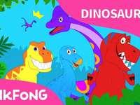 Kleurrijke dinosaurussen