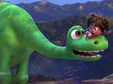 Grön dinosaurie - Grön dinosaurie, tecknad film, grön