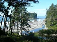 Ruby Beach - Parc national olympique