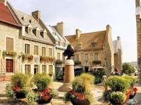 na cidade de Quebec - edifícios antigos na cidade de Quebec