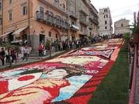 Festival de alfombras de flores de Genzano Región del Lacio - Festival de alfombras de flores de Genzano Región del Lacio