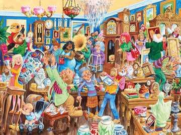 Antique shop - Second-hand bookshop, shop, sales, people
