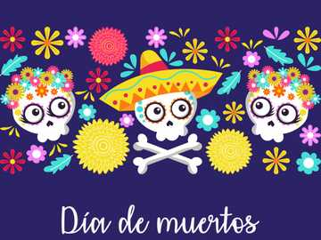 Day of the dead skulls - traditional festival of day of the dead