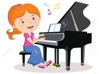 Jouer du piano - QUE FAIT-ELLE? ELLE JOUE LE ...