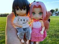 Sasuke Sakura - Sasuke et Sakura habillés en mode kawaii