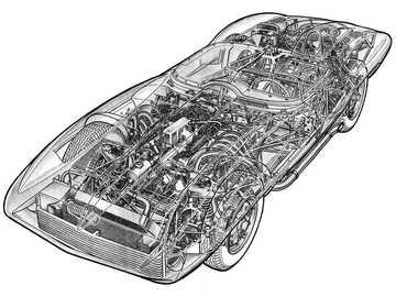 1959 Chevrolet Corvette XP-87 Stingray - Chevrolet Corvette XP-87 Stingray Racer, 1959. An experimental race car designed in the studios at G
