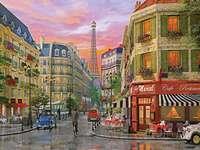 Парижки улици. - Пейзажен пъзел.