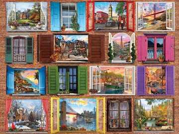 Windows to the world. - Landscape puzzle.