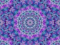 Mandala w kolorze turkusowego fioletu