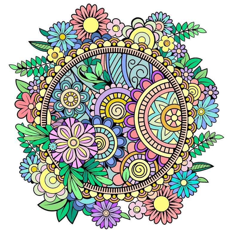 Mandala kolorowa w wielu kolorach