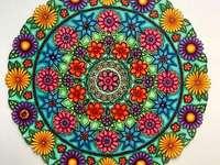 Mandala kleurrijk in vele kleuren