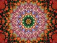 Mandala wielobarwny w różnych kolorach - Mandala wielobarwny w różnych kolorach