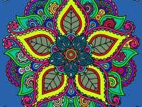Mandala multicoloră în diferite culori