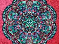 Mandala in different colors