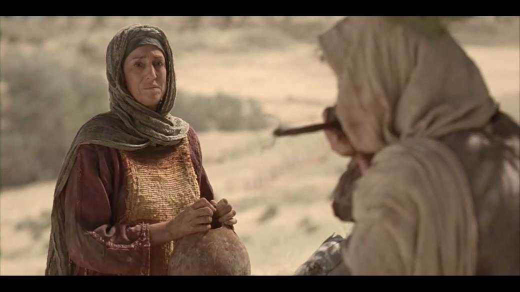 Iisus și femeia samariteană - Isus îi cere unei femei samaritene apă (3×2)