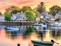 New England - Beautiful Town in New England