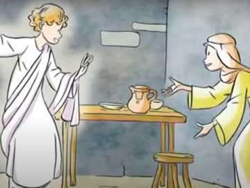 De aankondiging - De engel Gabriël kondigt aan Maria aan dat ze de moeder van Jezus zal zijn