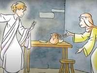 Ο Ευαγγελισμός - Ο άγγελος Γαβριήλ ανακοινώνει στη Μαρία ότι θα είναι η