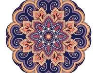 Mandala sokszínű, különböző színekben