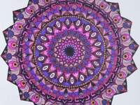 Mandala lila és rózsaszínű