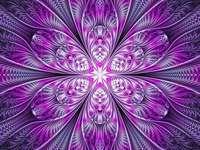 Fraktál art lila rózsaszín