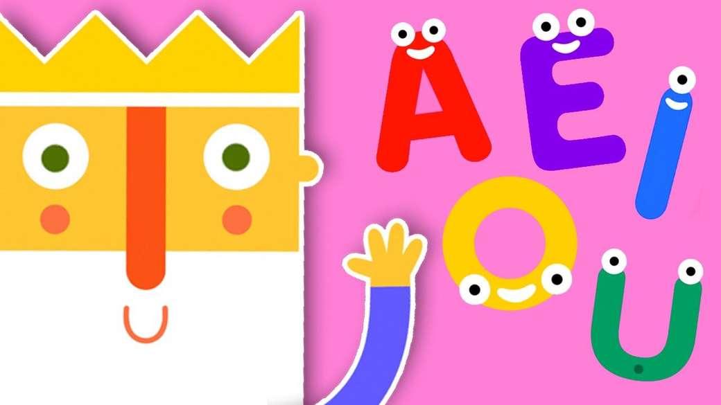ZABAWA RZECZAMI - Dziś nauczymy się samogłosek z naszym przyjacielem Królem (3×2)