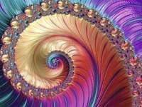 Sztuka fraktalna wiele kolorów