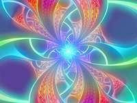 Kolorowa gra kolorów light art - Kolorowa gra kolorów light art