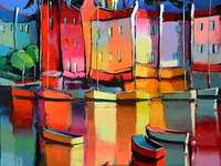 Malba města na vodě