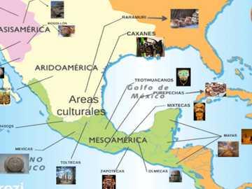 Πολιτιστικές περιοχές του Αρχαίου Μεξικού - Ολοκληρώστε το παζλ εντοπίζοντας τις πολιτιστικές περ