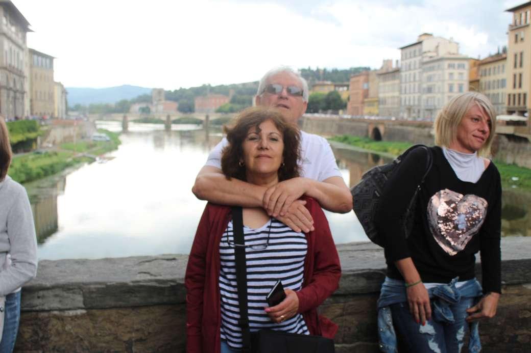 Florence - Ponte Vechio à Florence (10×7)