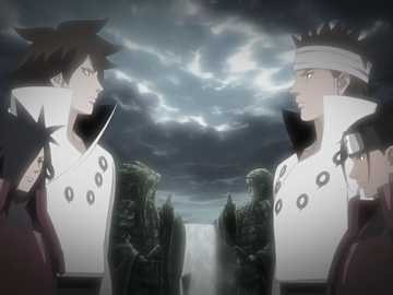 The Valley of the End - Indra, Madara, Ashura, Hashirama in the Valley of the End