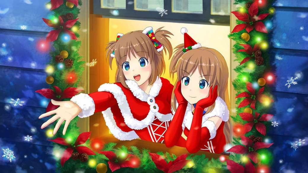 Madobe Yuu och Madobe Ai Christmas Style - Madobe Yuu och Madobe Ai i julstil (8×5)