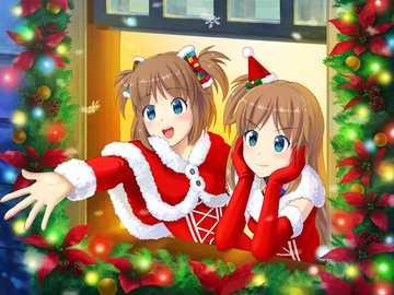 Madobe Yuu and Madobe Ai Christmas Style - Madobe Yuu and Madobe Ai in christmas style.