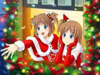 Madobe Yuu and Madobe Ai Christmas Style - Madobe Yuu and Madobe Ai in christmas style.