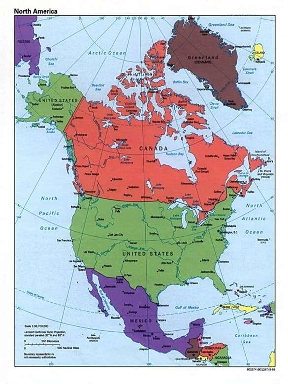 Amérique du Nord puzzle