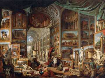 Painting by Pannini Ancient Rome - Painting by Pannini Ancient Rome