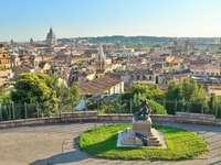 Panoramisch uitzicht over Rome vanaf de Pincio - Panoramisch uitzicht over Rome vanaf de Pincio