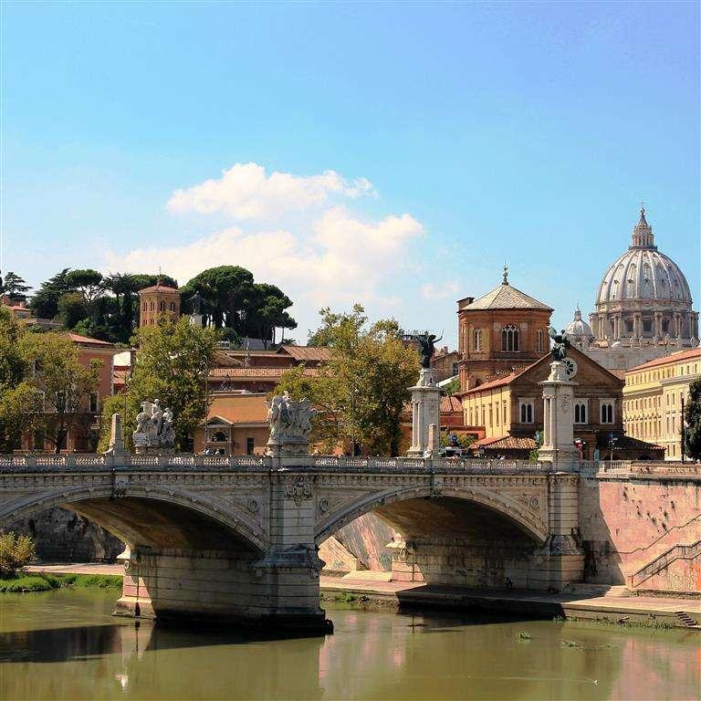 Vista sobre o Tibre até Roma (11×11)