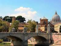 Vista sobre o Tibre até Roma