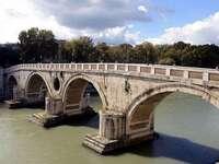 Rom Ponte Sisto über den Tiber