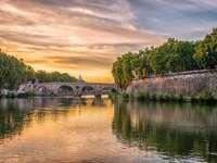 Rome bridge over the Tiber - Rome bridge over the Tiber