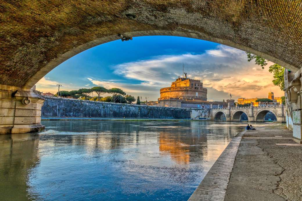 Roma Vista do Castel Sant'Angelo das margens do Tibre (3×2)