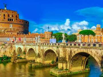 Rome View of the Castel Sant'Angelo over the Tiber