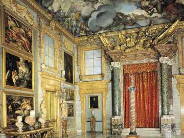 Řím Palazzo Colonna interiér - Řím Palazzo Colonna interiér