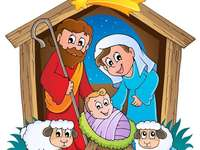 Baby Jesus birth puzzle - Solve the puzzle of the birth of baby Jesus